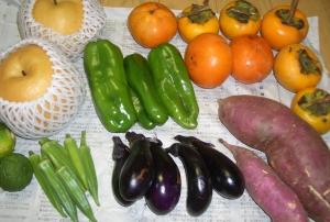 野菜と果物到着