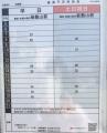 羽鳥駅前のバス停にあった時刻表