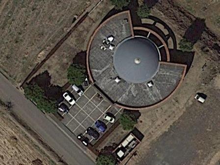 空から見下ろす文化館