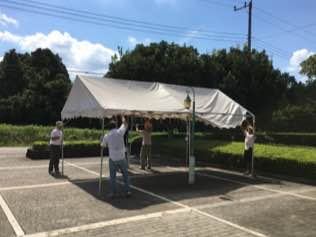 テント設営①