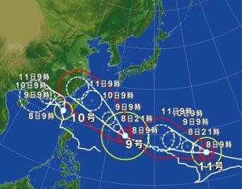 台風情報16年7月