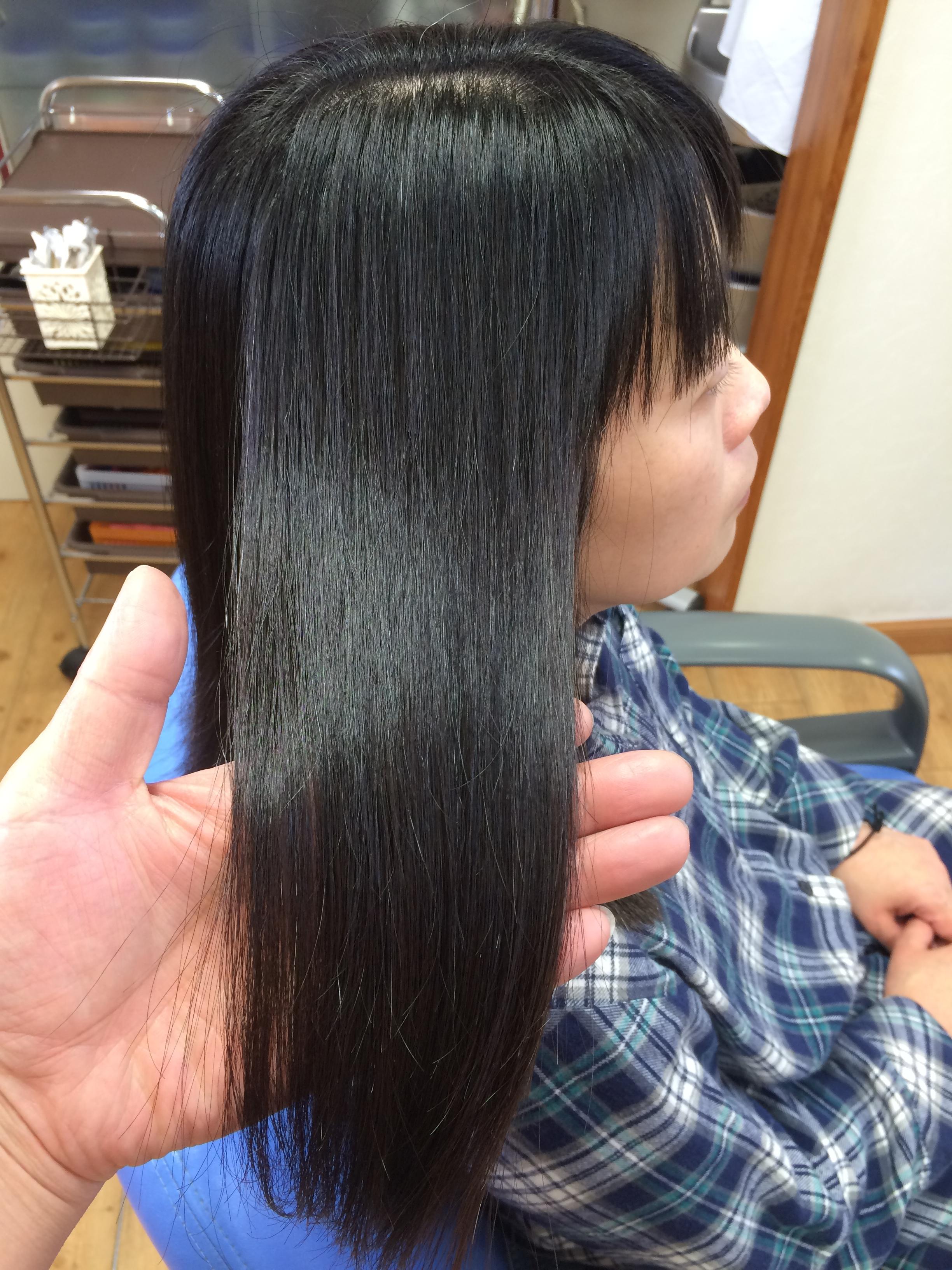 2016年安曇野の夏 縮毛矯正の艶髪ツヤ髪つや髪