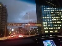 夜景 移動 首都高 夕餉 麺