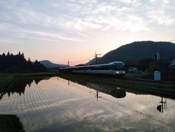 20160517電車夕暮れ2