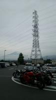 道の駅ふじおやまにて富士山