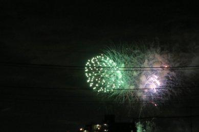 近所の花火