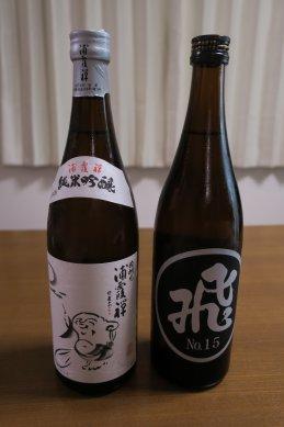 日本酒(浦霞禅と飛良泉)