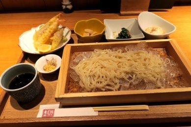 せいろうどんと海老の天ぷら御膳