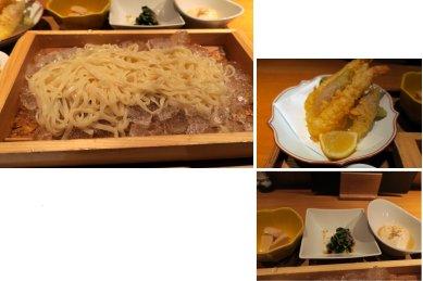 せいろうどんと海老の天ぷら御膳・内訳 @1,280円