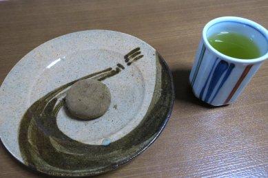 宇治ほうじ茶大福と煎茶