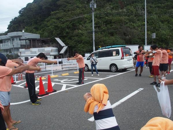 元プロボクサーの関野さんによる体操