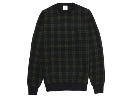 MGJ-KN10 TARTAN CHECK KNIT BLACKWATCH_R