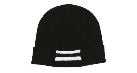MGJ-AC03 LINE KNIT CAP BLACK_R