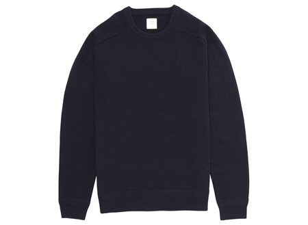 MGJ-KN01 CREW NECK KNIT NAVY_R