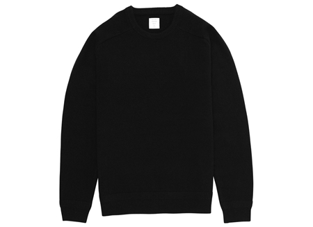 MGJ-KN01 CREW NECK KNIT BLACK_R