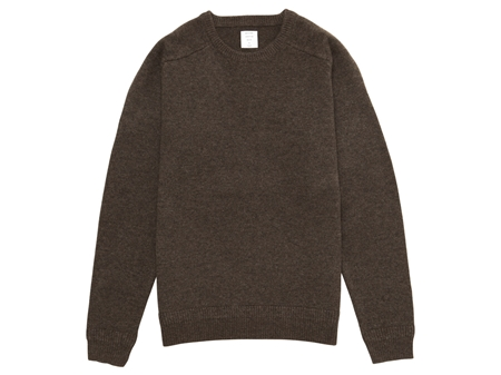 MGJ-KN01 CREW NECK KNIT HEATHER BROWN_R
