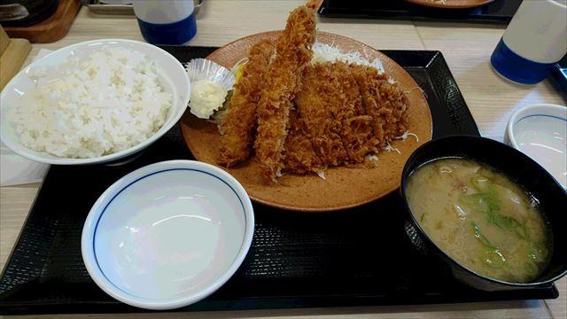 海老ロースカツ定食