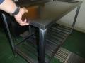 給食室水切り台補修2