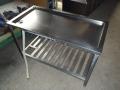 給食室水切り台補修3