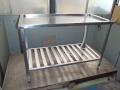 給食室水切り台補修8