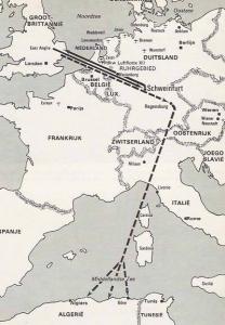 シュヴァインフルト・レーゲンスブルグ作戦行程
