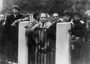 カウナス領事館に集まるユダヤ人