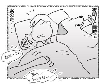 羊の国のラブラドール絵日記シニア!!「珍しく早起き」3