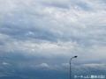 屋上で雲を撮る