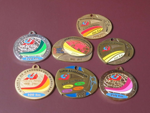 磨いたメダル