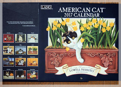 2017年 ラング カレンダー
