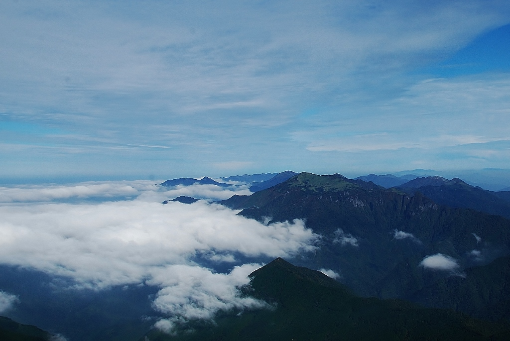 瓶ヶ森の雲海