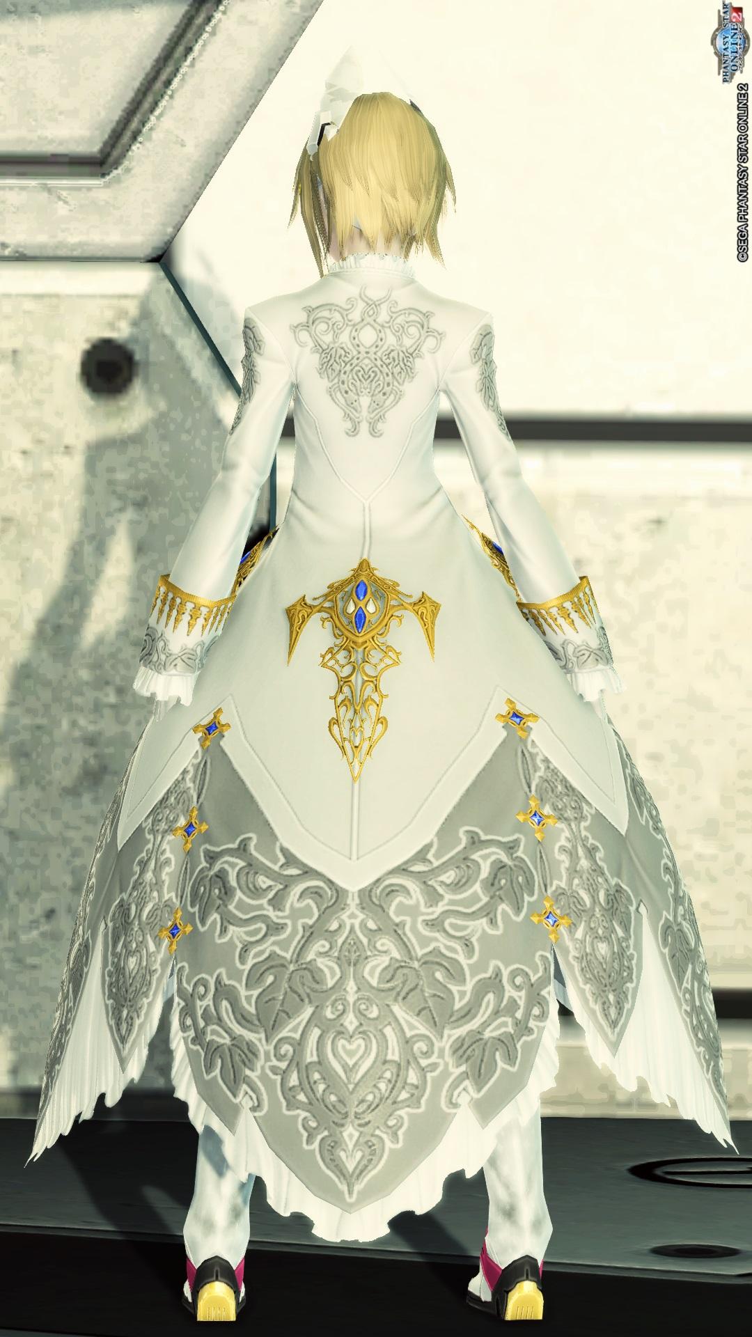 フォージドレス[Ou]白 後ろ