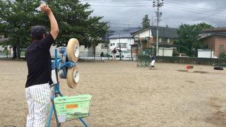 20160625少年野球バッティング練習風景