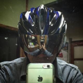 20160517GVR/G-307Vシールド付サイクルヘルメットhyh