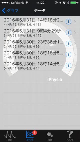 20160531心拍数リストiPhysioMeter