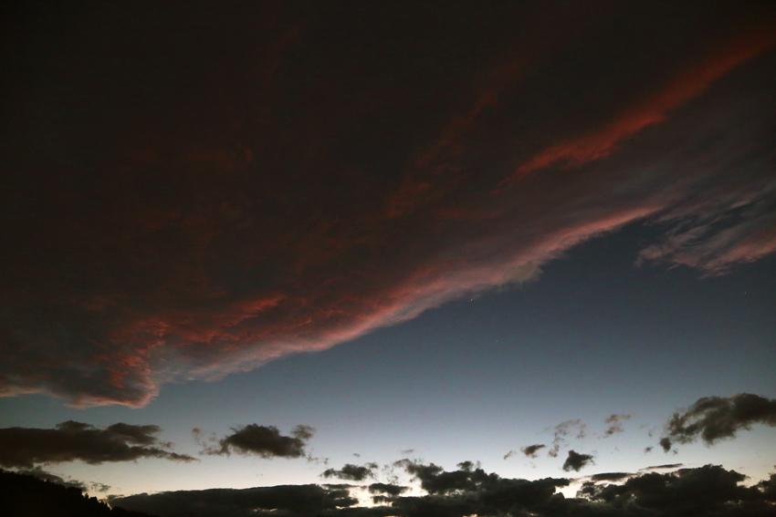 20160929夕陽に染まる雲6