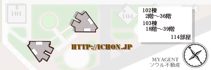 韓国 パークタワー 図面