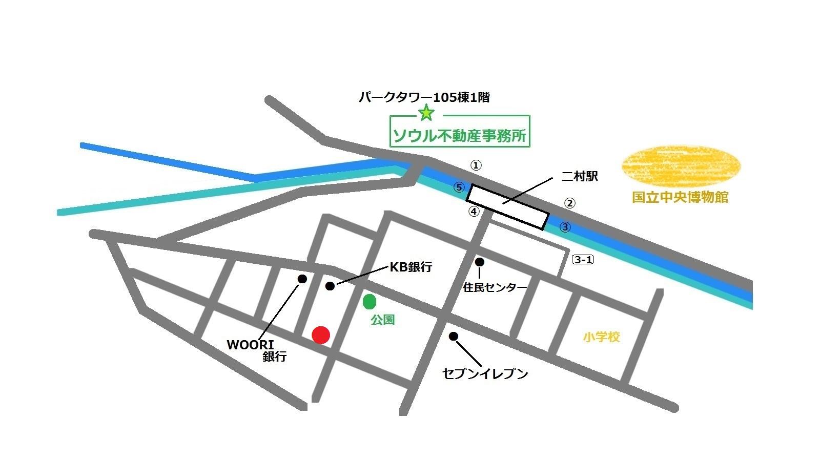 韓国 二村 ソルビン 地図