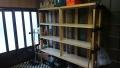 レコード盤棚修理