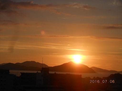 6日の夕陽