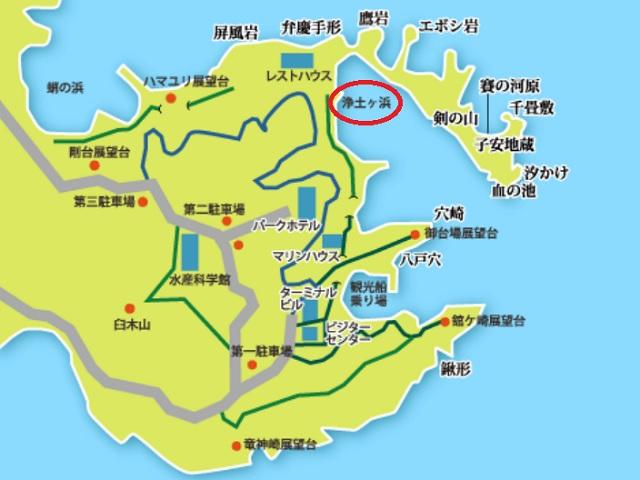 浄土ヶ浜地図