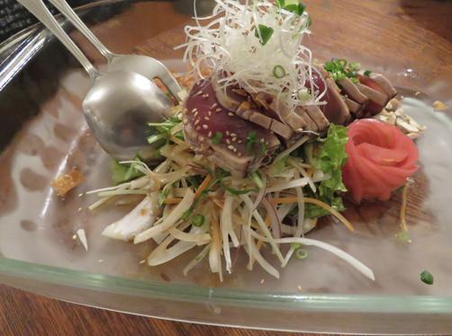 カツオの中華風サラダ