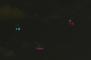 火星土星アンタレス