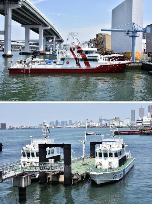 消防艇と巡視艇