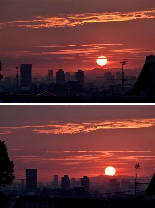 9-1家から夕陽