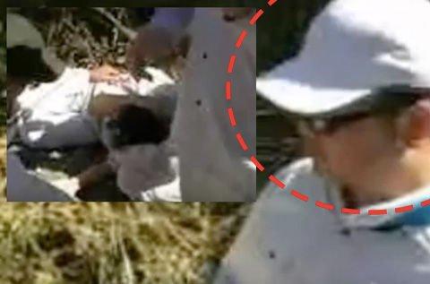 ☆ 1 1 添田充啓が職員に怪我を負わせた現場の写真
