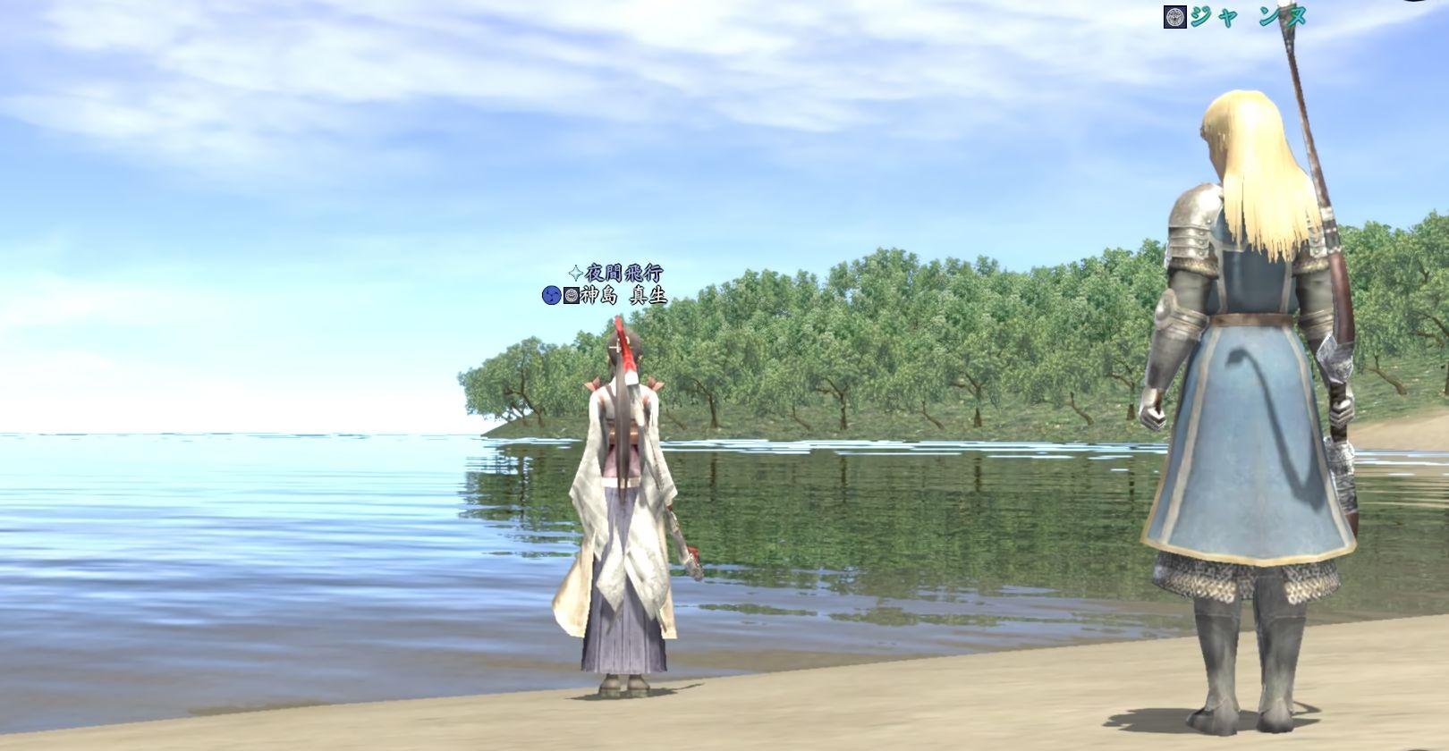 湖畔で_w
