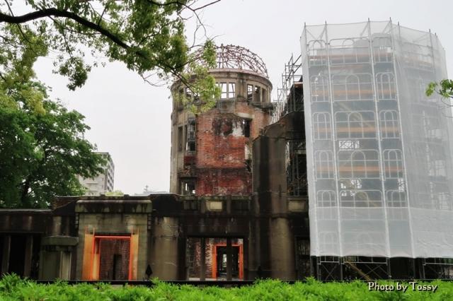 原爆ドーム 工事中