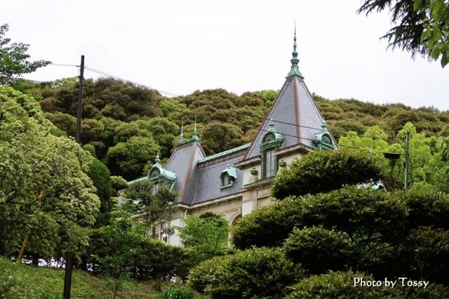 萬翠荘 屋根が美しい
