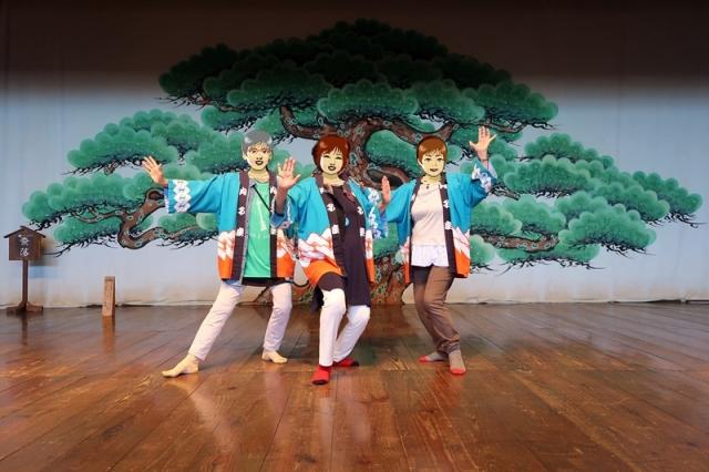 内子座舞台の3美女